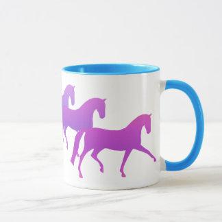 Many Horses (purples) Mug