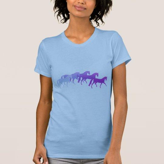 Many Horses (purples) T-Shirt
