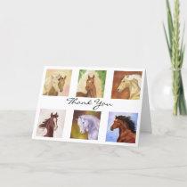 Many Horses Thank You card