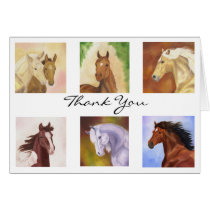 Many Horses Thank You card