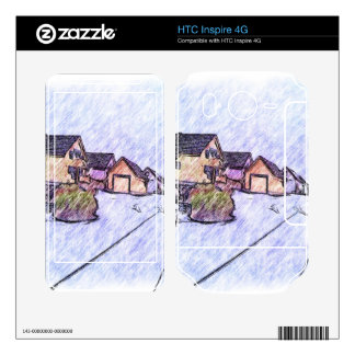 Many houses drawing HTC inspire 4G decals
