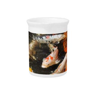 Many koi carp multicolor beverage pitcher