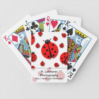 Many Ladybugs Shadows Bicycle Playing Cards