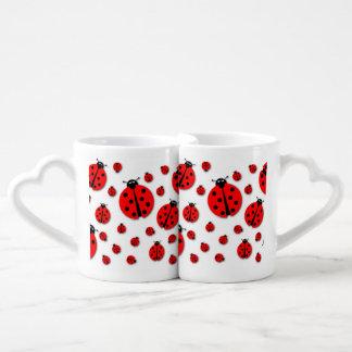 Many Ladybugs Shadows Coffee Mug Set