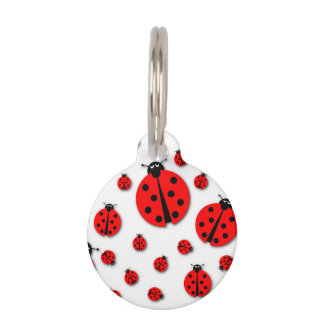 Many Ladybugs Shadows Pet Tag