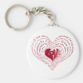 Many Languages of Love Keychain