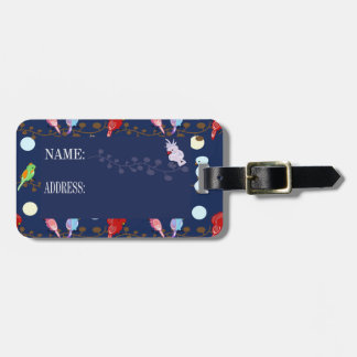 Many little birds bag tag