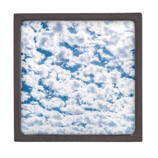 Many little white clouds and blue sky keepsake box