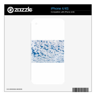 Many little white clouds and blue sky skins for iPhone 4