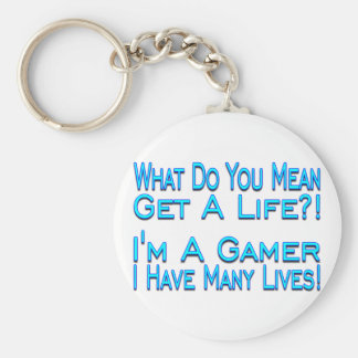 Many Lives Basic Round Button Keychain