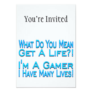 Many Lives Gamer 5x7 Paper Invitation Card