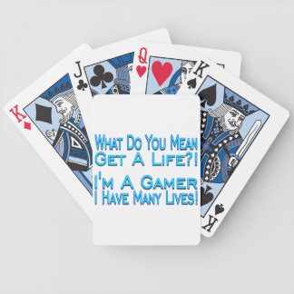 Many Lives Gamer Bicycle Playing Cards