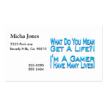 Many Lives Gamer Double-Sided Standard Business Cards (Pack Of 100)