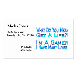 Many Lives Gamer Business Card