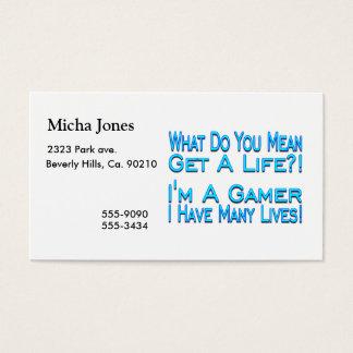 Many Lives Gamer Business Card