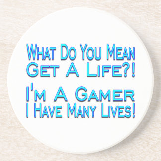 Many Lives Gamer Drink Coasters