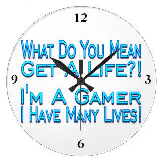 Many Lives Gamer Large Clock