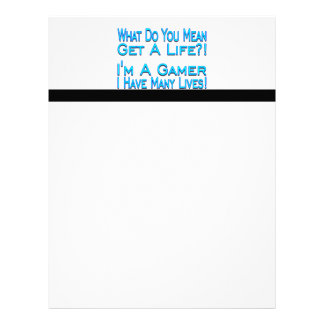 Many Lives Gamer Letterhead