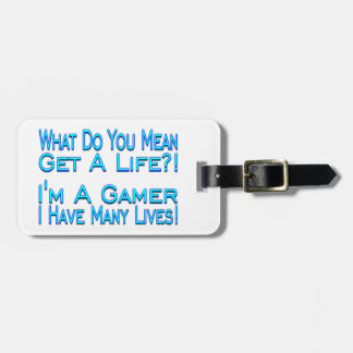 Many Lives Gamer Luggage Tag