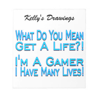 Many Lives Gamer Note Pad