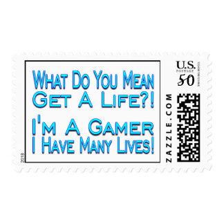 Many Lives Gamer Postage