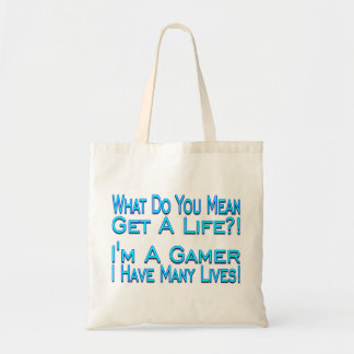 Many Lives Gamer Tote Bag