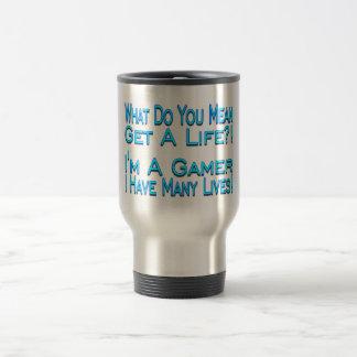 Many Lives Gamer Travel Mug