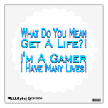 Many Lives Gamer Wall Decals