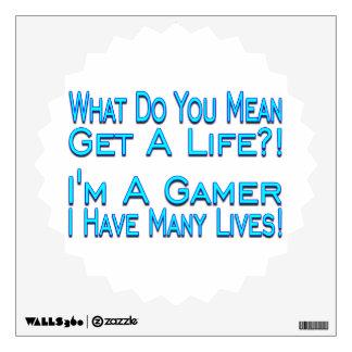 Many Lives Gamer Wall Sticker