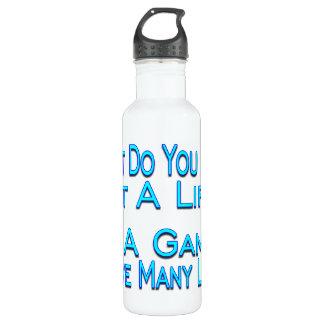 Many Lives Gamer Water Bottle