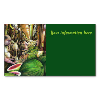 Many Men, Many Melons, Budapest Magnetic Business Card