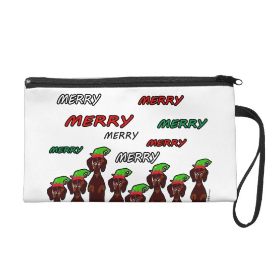 Many Merry Dachshunds Christmas Baguettes Bag