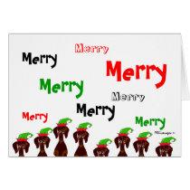 Many Merry Dachshunds Christmas Card