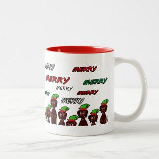 Many Merry Dachshunds Christmas Mug