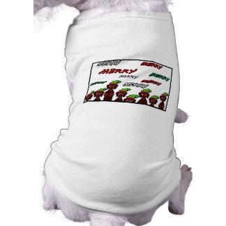 Many Merry Dachshunds Christmas Pet Sweater Shirt
