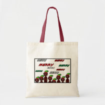 Many Merry Dachshunds Christmas Tote Bag