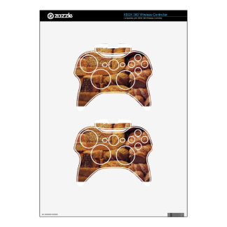 Many mixed breads and rolls background xbox 360 controller skin