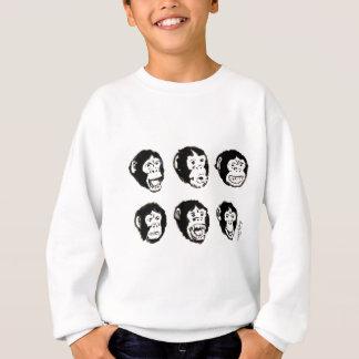 Many Moods of Mr. Chimp Sweatshirt