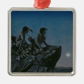Many Moons Ago Metal Ornament