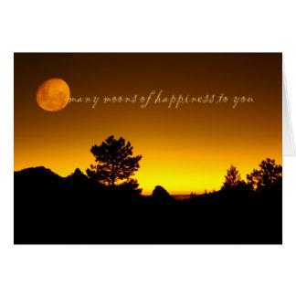 Many moons greeting card