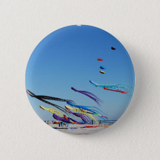 Many Multi Color Kites Button