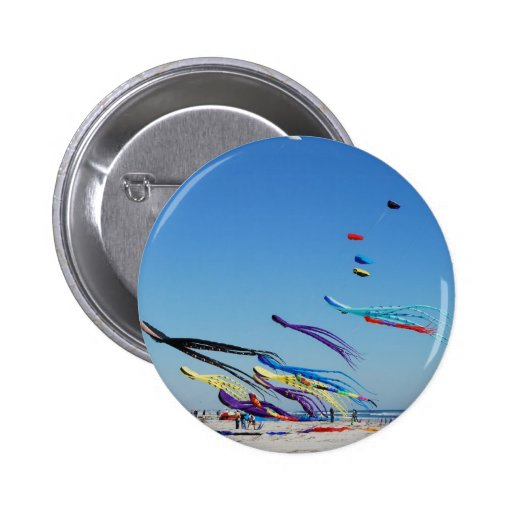 Many Multi Color Kites Pinback Buttons