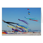 Many Multi Color Kites Greeting Cards
