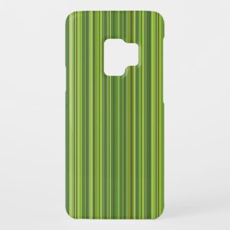 Many multi colored stripes in green Case-Mate samsung galaxy s9 case