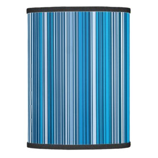 Many multi colored stripes in the blue... lamp shade