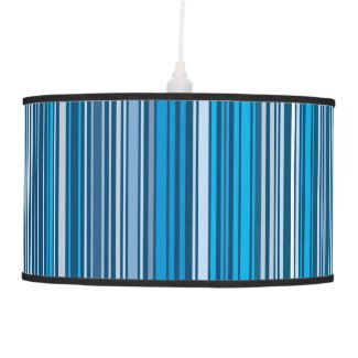 Many multi colored stripes in the blue... pendant lamp