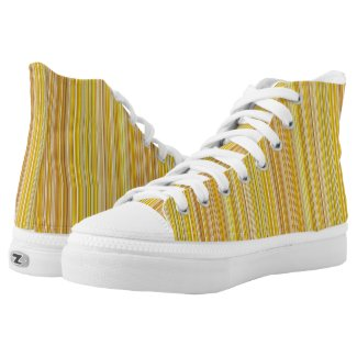 Many multi colored stripes in yellow... High-Top sneakers