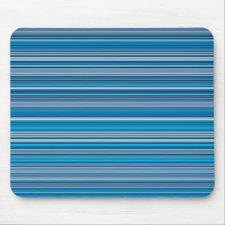 Many multi colored stripes into the blue… mouse pad