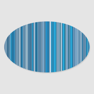 Many multi colored stripes into the blue… oval sticker