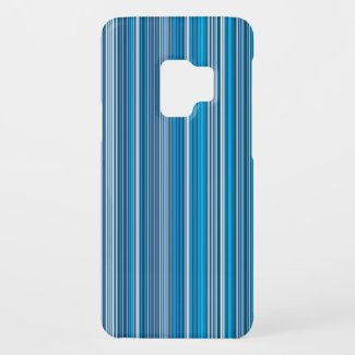 Many multi colored strips in blue Case-Mate samsung galaxy s9 case